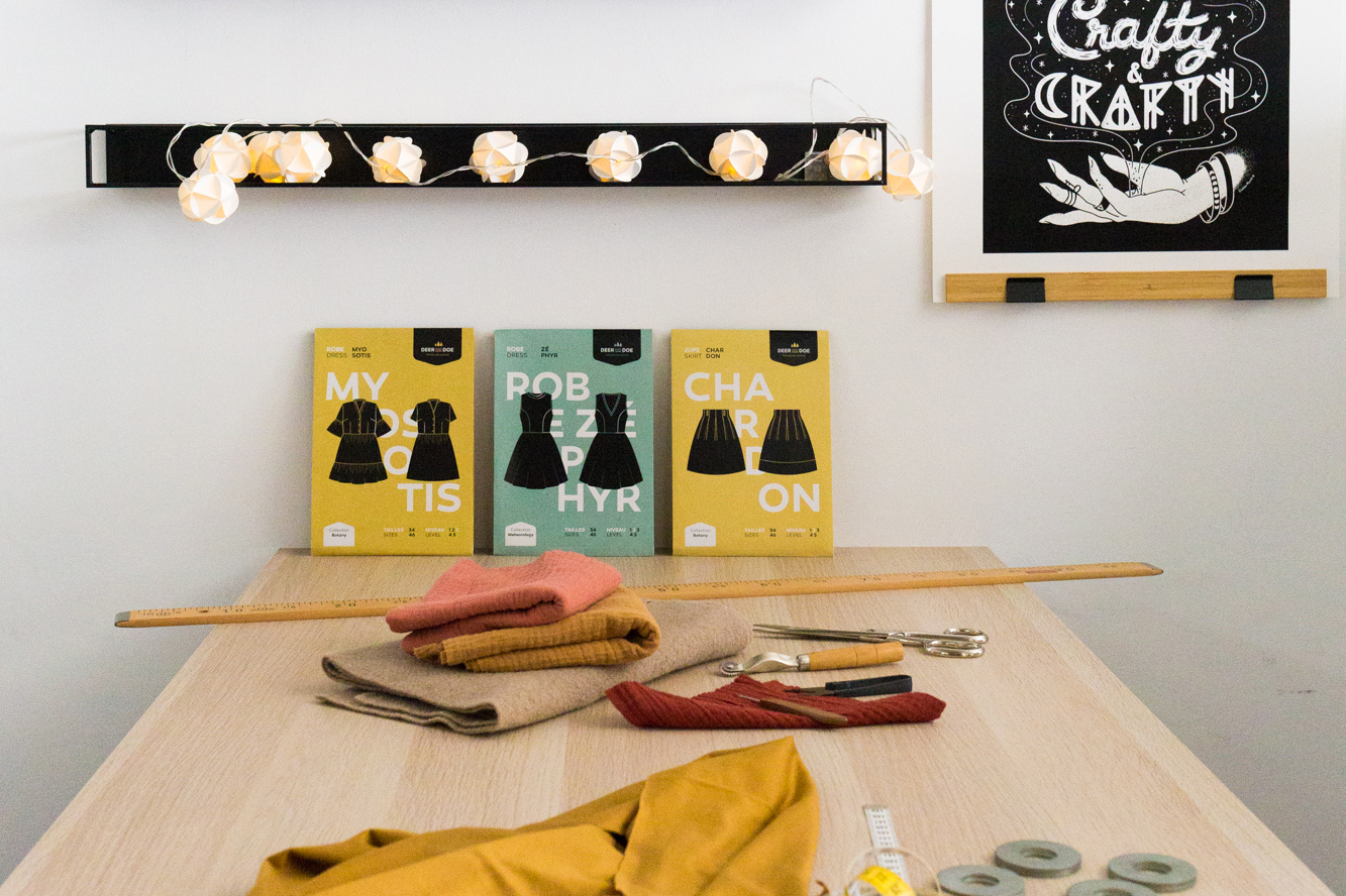 Deer&Doe studio cutting table.
